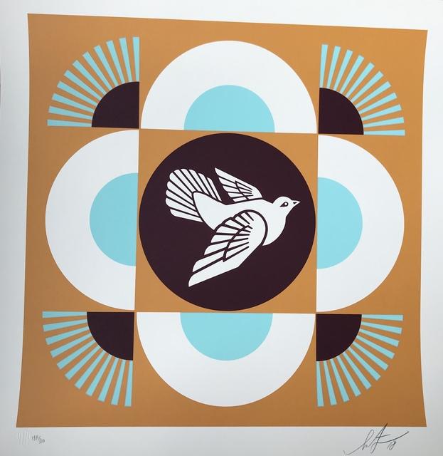 Shepard Fairey, 'Dove Geometric (orange background)', 2018, Digard Auction