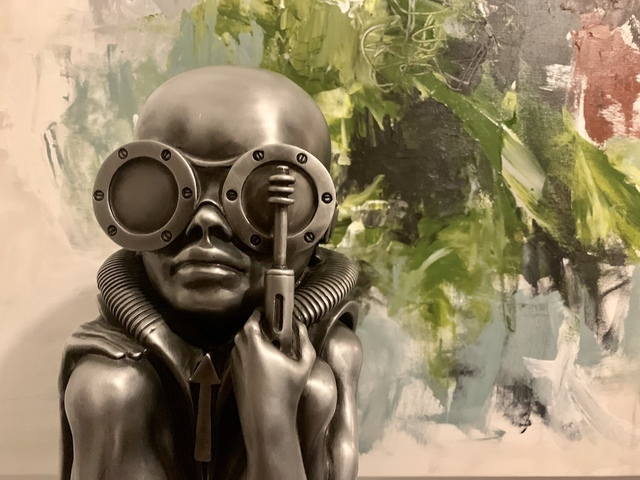 H. R. Giger, 'Birth Machine Baby ', 1998, Sculpture, Aluminum, JL Phillips Gallery