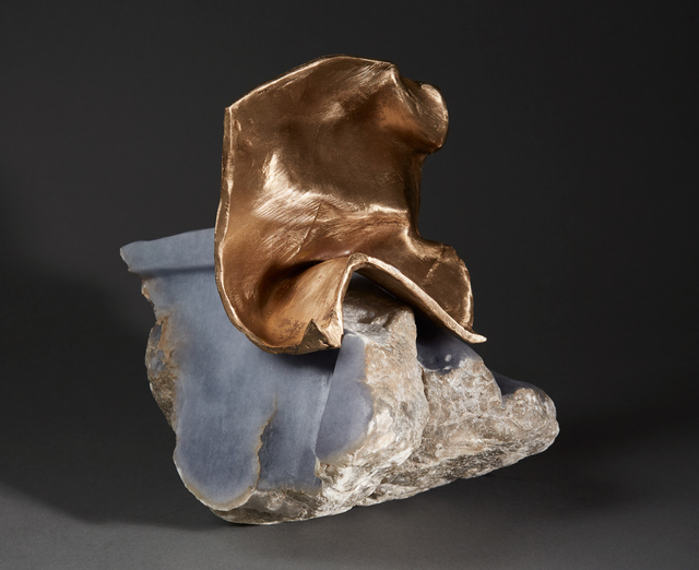 , 'Debra Baxter, I Need a Cape and I Need it Now, 2018, blue alabaster, bronze,' 2018, form & concept