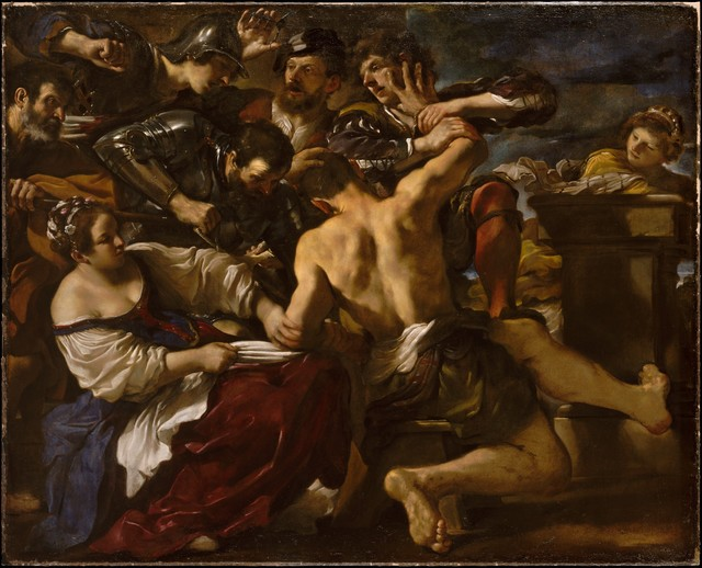 Guercino, 'Samson Captured by the Philistines', 1619, The Metropolitan Museum of Art