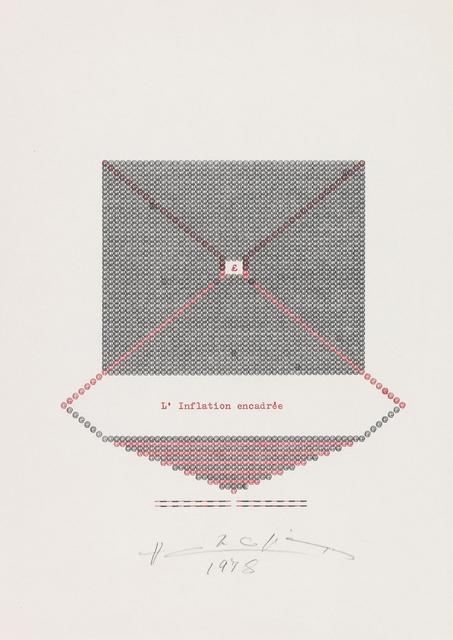 , 'L'inflation Encadrée,' 1978, Jane Lombard Gallery