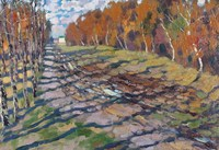 , 'An Autumn road,' 1921, Surikov Foundation