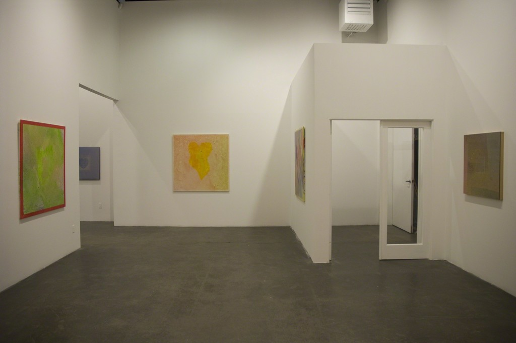 "Installation view of ""Billy Al Bengston,"" at Samuel Freeman, February 15, 2010."