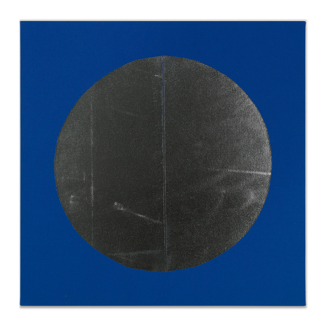 Chad Kouri, 'Reflection Pool Blue (2x2)', 2021, Painting, Foil on dyed canvas, Uprise Art