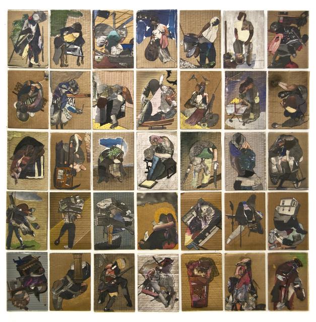 , 'Cardboard Portraits Series,' 2015, Fanny Allié + Ketta Ioannidou
