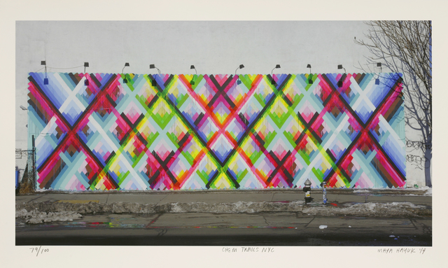 Maya Hayuk, 'Chem Trails Nyc', 2014, Sworders