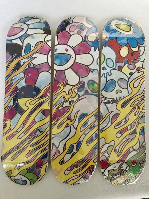 Takashi Murakami, 'Flaming Skull Deck Set (Rainbow) ', 2018, Pop Fine Art