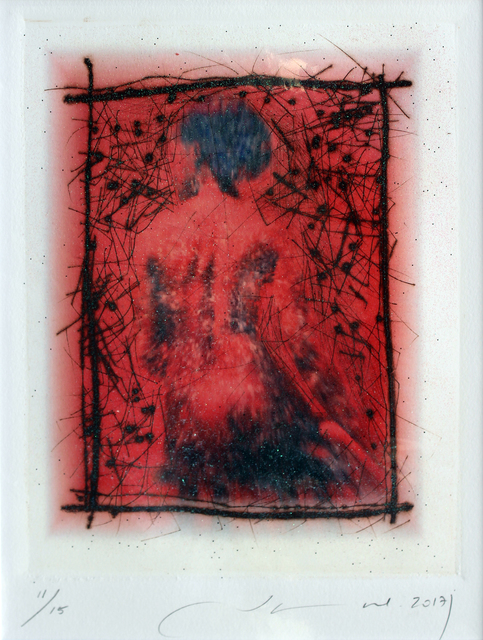 Jamal Abdul Rahim, 'Lady in Red', 2017, Print, Etching on Paper, Orient Gallery