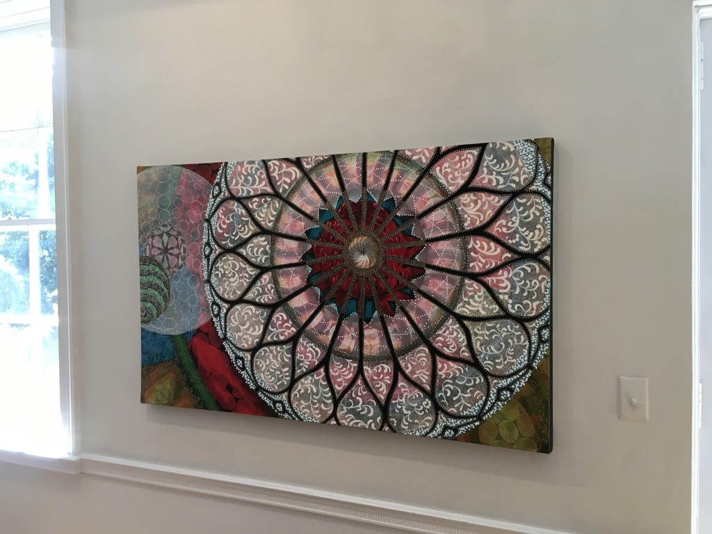 Into The Breach, Oil on Canvas, 36x60 by Amy Cheng.  On view in Flora Fantastica! at Wave Hill from July 16-August 27, 2017. Wave Hill is located 675 West 252nd Street, Riverdale NY.  As part of the Wave Hill partnership in the Fairfield Westchester Museum Alliance, three institutions are offering flower-related exhibits this summer: The Hudson River Museum presents Rober Zakanitch:Garden of Ornament and the Bruce Museum presents Spring Forward with Andy Warhol.