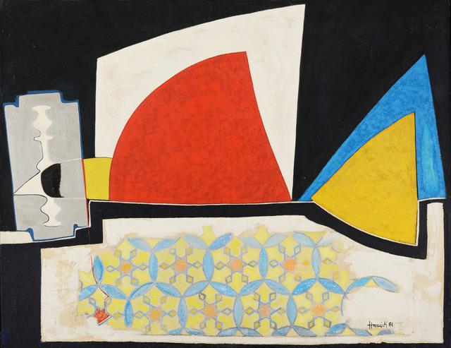 Mohamed Hamidi, 'Untitled', 1981, Mixed Media, Mixed media on canvas, Loft Art Gallery