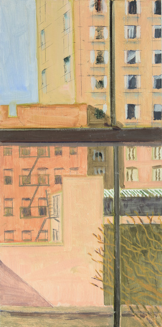 Lois Dodd, 'View of Bowery Hotels', 2019, Painting, Oil on aluminum, Alexandre Gallery