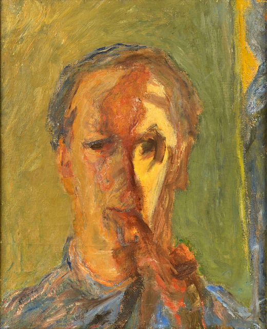 Henryk Gotlib, 'Self-portrait with Pipe', 1950-1952, Ben Uri Gallery and Museum