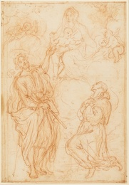 The Madonna and Child appearing to Saint James and a kneeling monk
