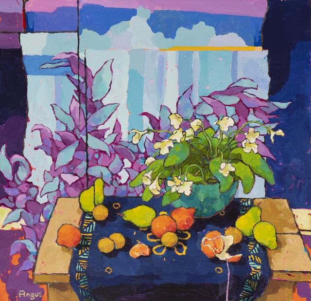 , 'Apricots and Pears with Streptocarpus,' 2019, Ventana Fine Art