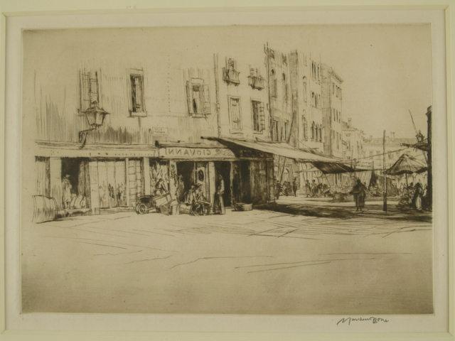 Muirhead Bone, 'Campo, Venice', ca. 1920, Private Collection, NY