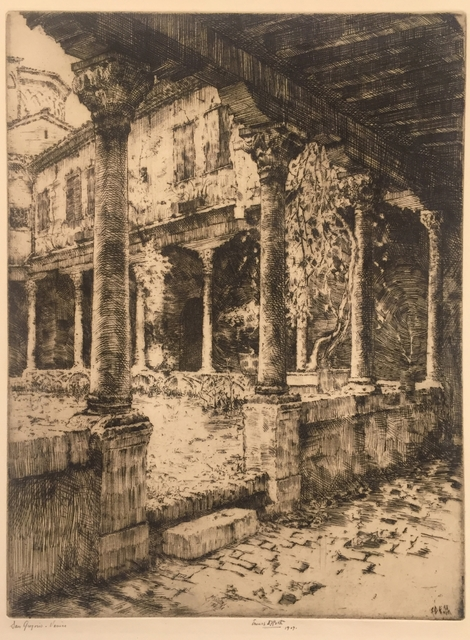 Ernest David Roth, 'Cloisters of San Gregorio, Venice', 1907, Childs Gallery
