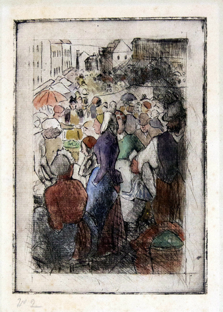 , ' Marche de Gisors (Rue Cappeville); First State, Hand Colored ,' 1894, Harris Schrank Fine Prints