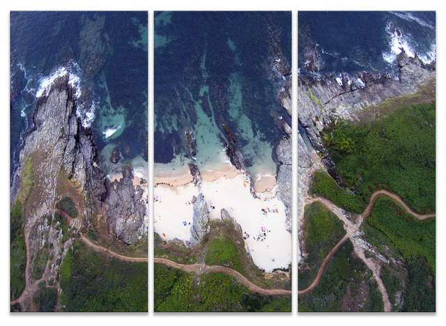 , 'GROIX (up from series) triptych,' 2017, Michele Mariaud Gallery