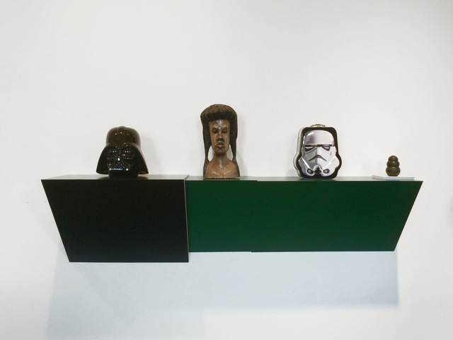 , 'Untitled (cookie jar, Jamaican head, Stormtrooper, dog chew),' 2016, Galerie Laurent Godin