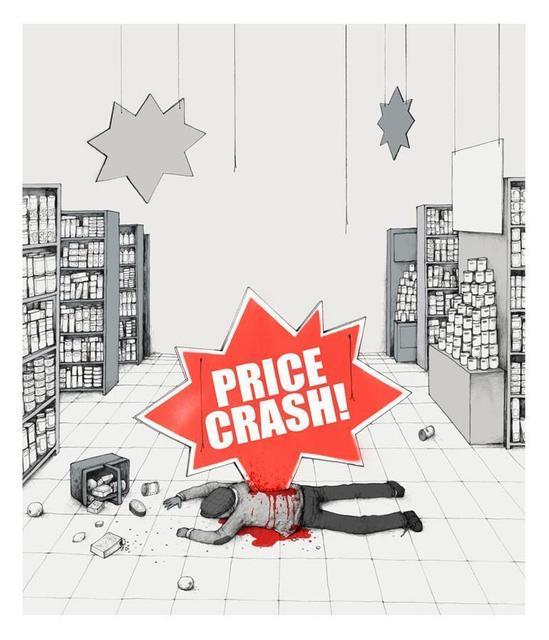 dran, 'Price Crash', 2013, Stowe Gallery