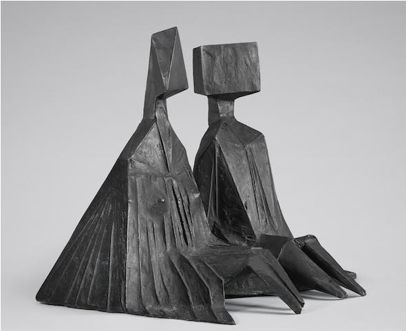 , 'Pair of Sitting Figures I,' 1973, Osborne Samuel