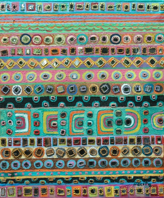 , 'Rainbow of mirrors,' 2002, Pacita Abad Art Estate