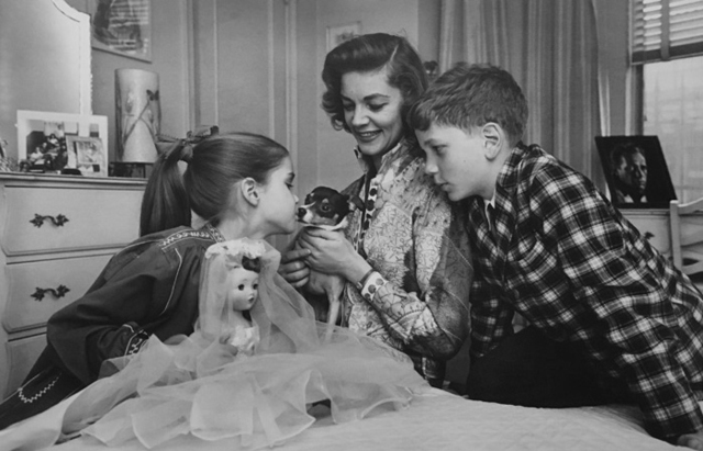 , 'Lauren Bacall and her two children at home, NYC,' 1960, KP Projects