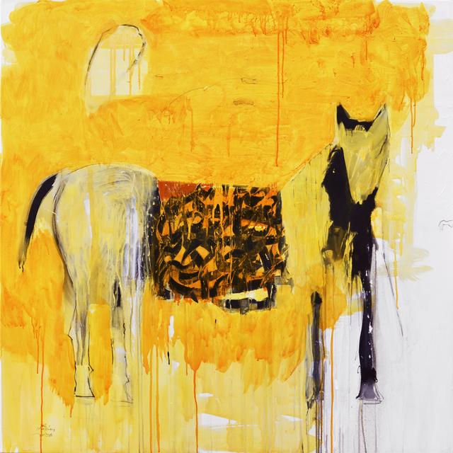 Ali Hassan, 'Saddle 3', 2019, Painting, Acrylic on canvas, al markhiya gallery