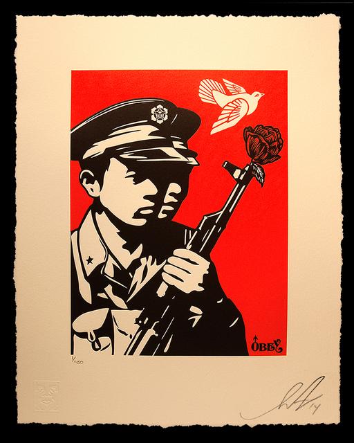 Shepard Fairey, 'Chinese Soldiers Letterpress', 2017, AYNAC Gallery