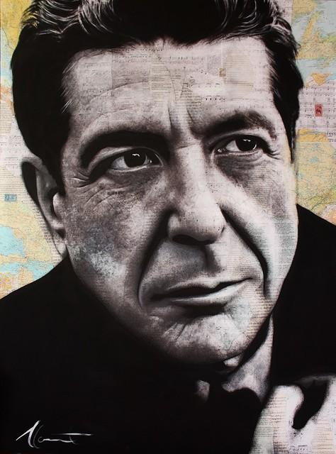 , 'Leonard Cohen,' 2018, Galerie de Bellefeuille