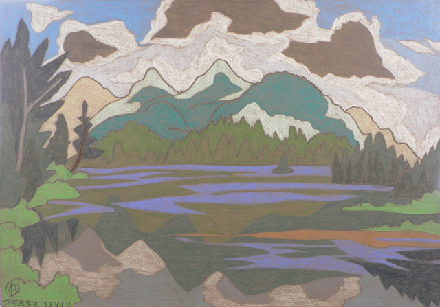 Pieter Vanderbeck, 'McNaughton Mountain from Duck Pond', Keene Arts