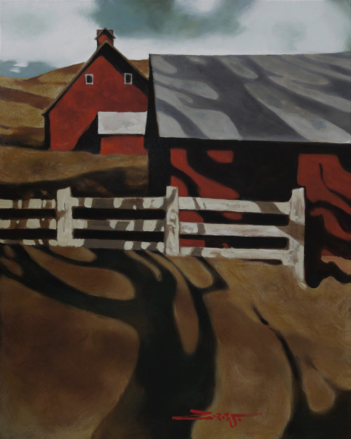 , 'Red Barn in Shadow,' 2017, Patricia Rovzar Gallery