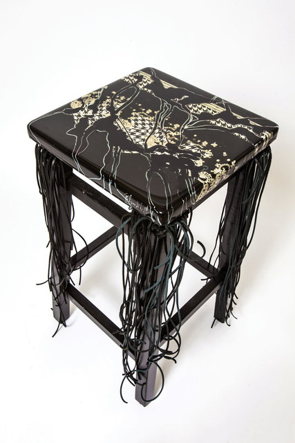, 'B & W Stool,' 2017, Lilienthal Gallery