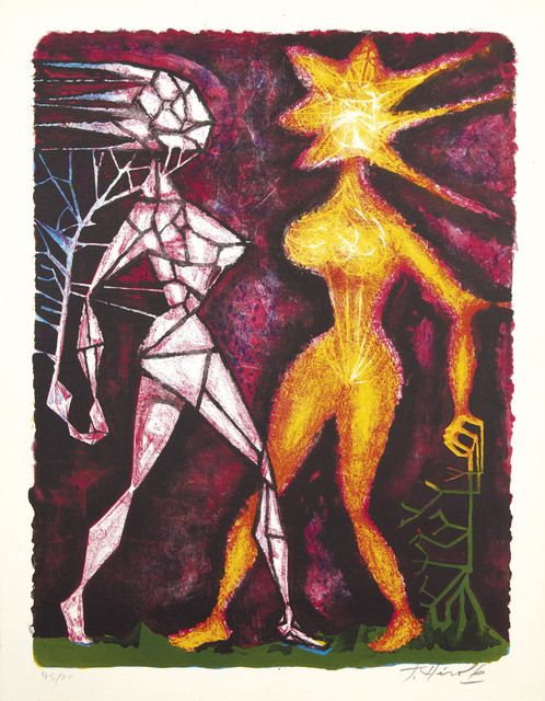 Jacques Herold, 'Personnages Surréalistes', 1947, Print, Lithograph in colors, on heavy wove paper, Christie's