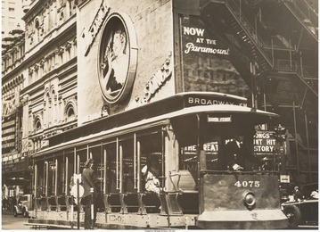 Trolley Car, Times Square, New York