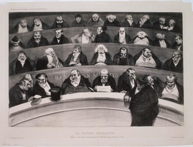 Honoré Daumier, 'Le Ventre Legislatif', 1834, Phillips Collection