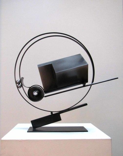 Fletcher Benton, 'Spring It No. 25', 2011, Sculpture, Steel with patina, Tasende Gallery