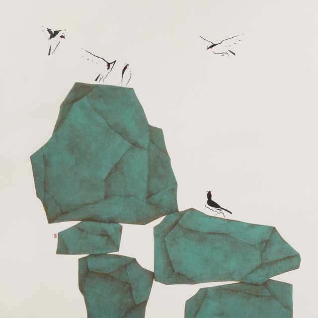Bak Chiang Tay, 'Stones to Mountain', 2019, Painting, Chinese ink & pigment on rice paper, Cube Gallery