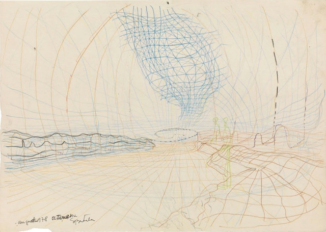 , 'Untitled (Timiș river with spatial nets),' 1978, Art Encounters Foundation
