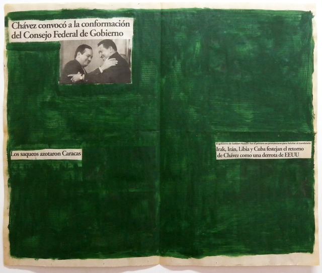 , 'Serie La verdad no es noticia (Chávez convocó a la conformación del Consejo Federal de Gobiernos),' 2016, Carmen Araujo Arte