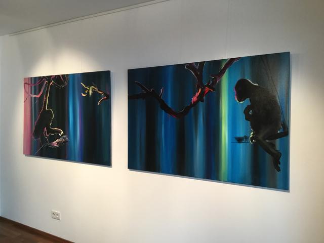 ", 'Diptych - ""Preparing to Escape"" ,' 2015, Galerie Sandhofer"