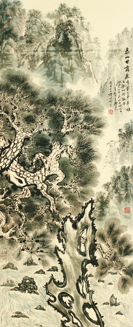 Zhang Yanyun, 'Spring of sweet dew 泰山十二春秋-甘露泉', 2012, Drawing, Collage or other Work on Paper, Ink and colour on paper, Tian Bai Calligraphy and Painting (天白書畫)