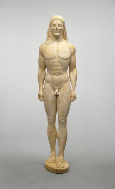 'Kouros', ca. 530 BCE or modern forgery, J. Paul Getty Museum