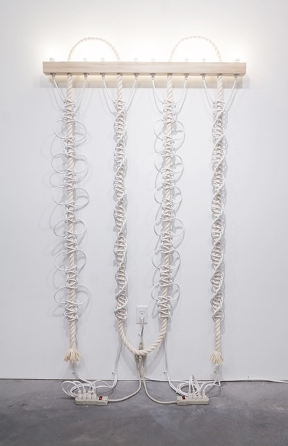 , 'Untitled (White Extension Cords, Rope),' 2016, Eleanor Harwood Gallery