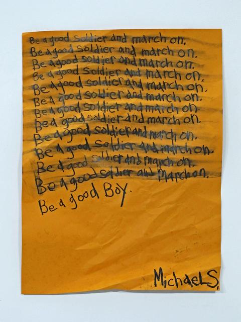 Michael Scoggins, 'Be a Good Boy', 2014, Wasserman Projects