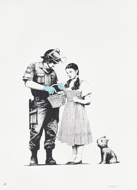 Banksy, 'Stop & Search', 2007, Print, Screenprint in colors, on Arches 88 paper, with full margins., Phillips