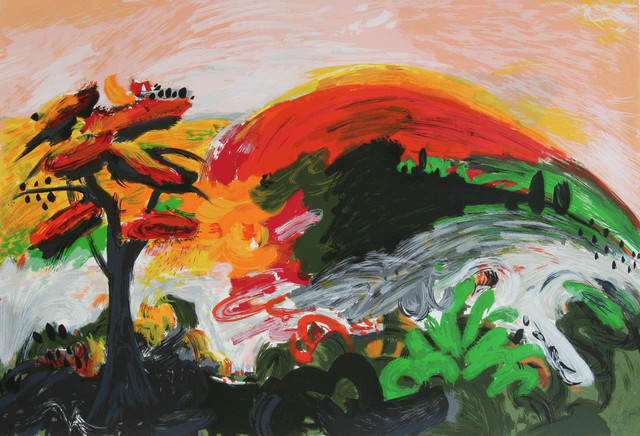 Yehouda Chaki, 'Tree with Red Leaves', 1993, Galerie de Bellefeuille