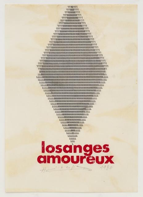 , 'Losanges Amoureux,' 1980, Richard Saltoun