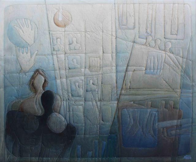 , 'Discourse of Silence 4,' 2017, al markhiya gallery