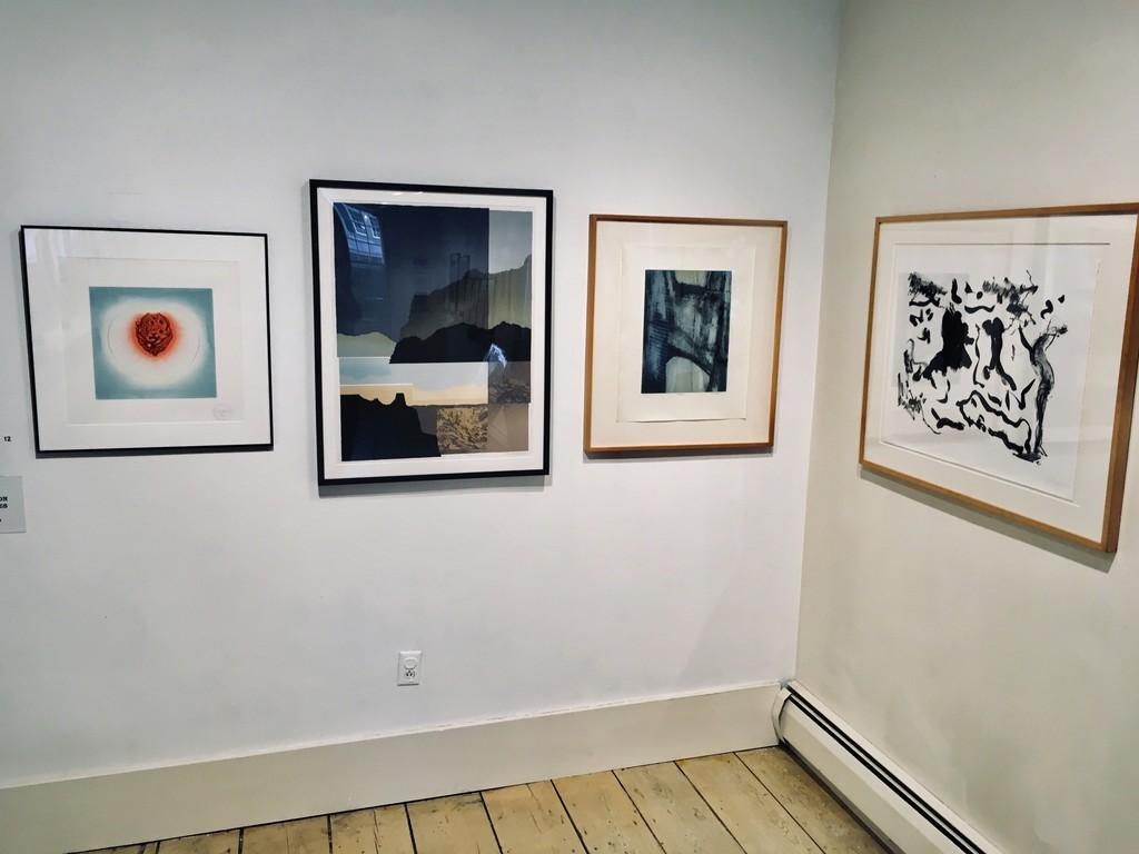 Gallery view- work by Ching Ho Cheng, Arnold Hoffman Jr., Dan Welden, Willem deKooning